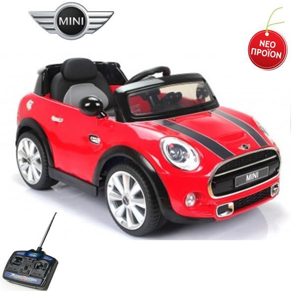 Vehicle Mini Cooper Convertible S Red: ΠΑΙΔΙΚΟ ΑΥΤΟΚΙΝΗΤΟ MINI COOPER S MINI HATCH (F56) 12V